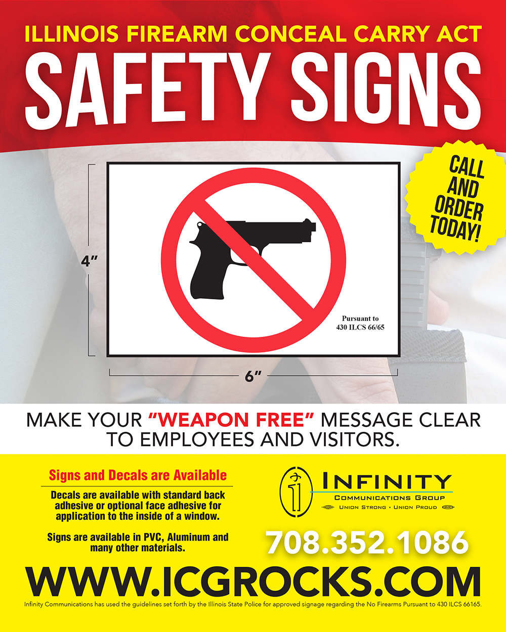 Firearm Conceal Carry Signs